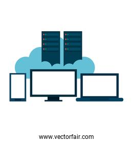 Technology devices with cloud computing