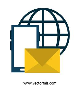 smartphone email sending with global sphere