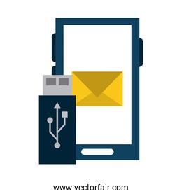 smartphone email sending and usb