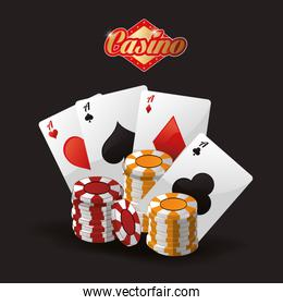 cards chips casino icon