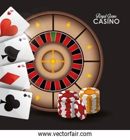 cards chips roulette casino design
