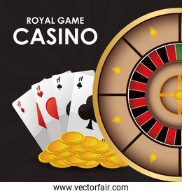 cards roulette coins casino icon