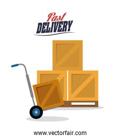 cart box package delivery icon