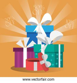 Gift boxes card