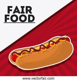hot dog fair food snack carnival icon