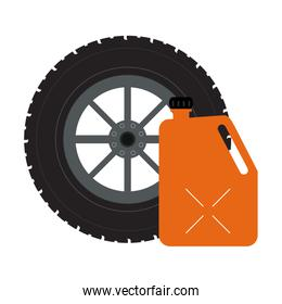 Tire wheel and container