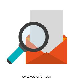 magnifying glass on envelope mail