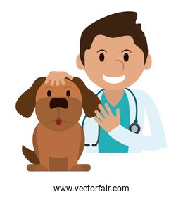 Veterinary with pet
