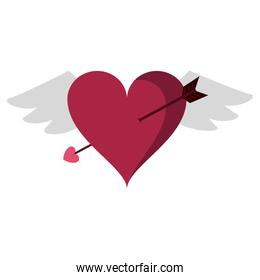 Heart with wings and arrow