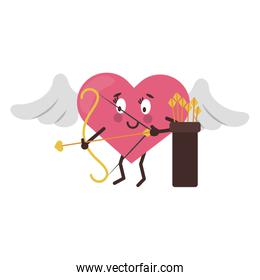 cute heart cartoon