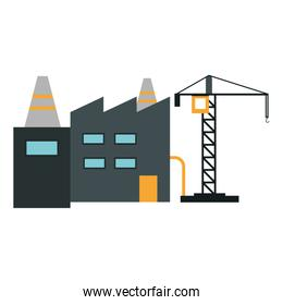 Factory and crane