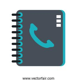 Address book with telephone