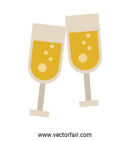 Champagne cups toast
