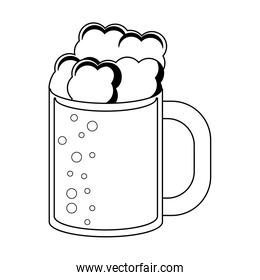 Beer cup symbol black and white