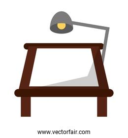 drawing table with desk light