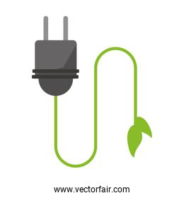 Plug with ecology wire plant symbol