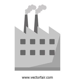 Factory building symbol isolated