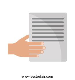 hand with document paper