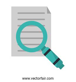 Document with magnifying glass symbol