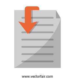 Document paper symbol isolated