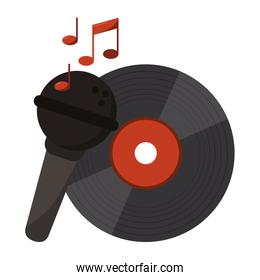 music vinyl with microphone