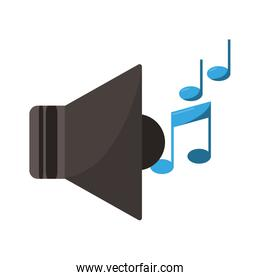 music bullhorn with notes