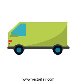isolated delivery cargo truck vehicle