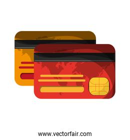 credit card frontview and backview
