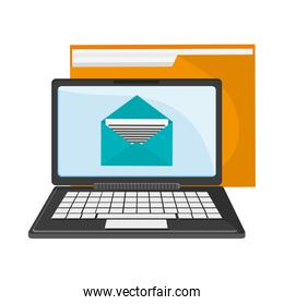 laptop email and folder