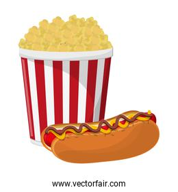 pop corn cup and hot dog