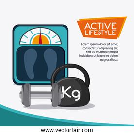 weight scale healthy lifestyle design