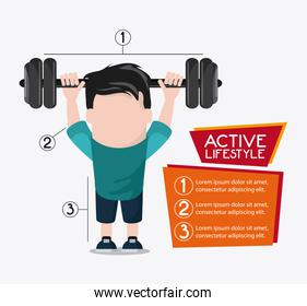 boy weight lifting healthy lifestyle design