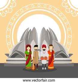 Indian people and culture cartoon