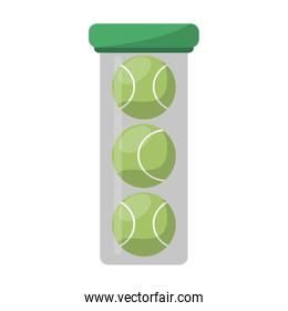 tennis balls in bottle