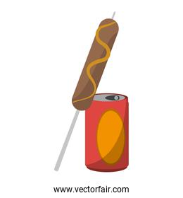 Sausage stick with soda cup