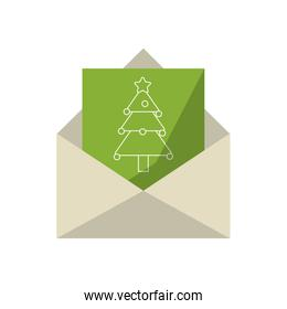 letter with christmas card