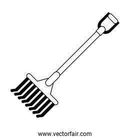 Rake harvest tool symbol black and white
