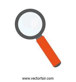 magnifying glass symbol isolated