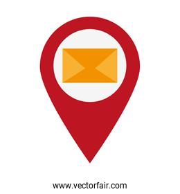 email envelope location pin