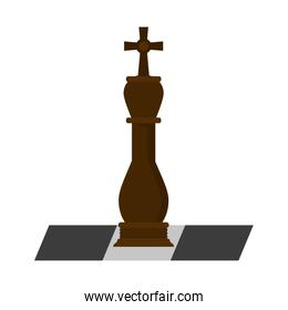 Chess piece on game
