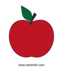 apple fruit cartoon isolated