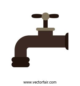 Water tap cartoon isolated
