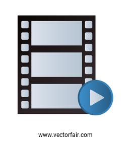 video player reel and button symbol