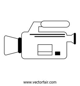 video camera camcorder symbol in black and white