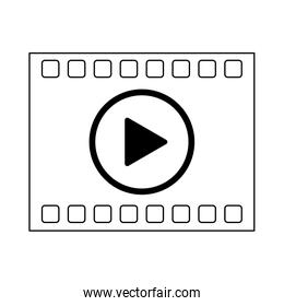 High Definition movie symbol in black and white