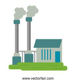 Industrial plant with pollution smoke