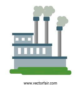 Industrial plant with pollution