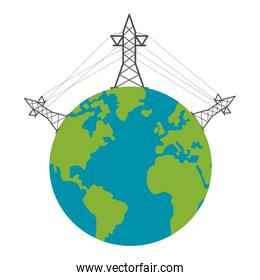 Green energy electric towers
