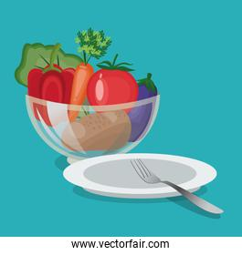 vegetables organic and healthy food design