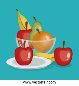 fruits organic and healthy food design